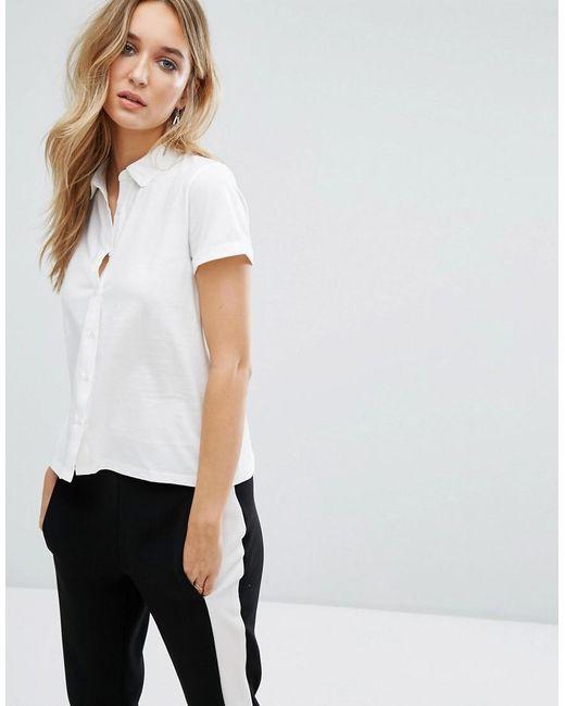 Mango | White Jersey Polo Shirt | Lyst