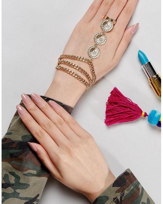 ASOS   Metallic Metal Flower Festival Hand Harness   Lyst