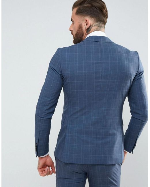 what haircut suits my amp jones premium suit jacket in check in blue 3057