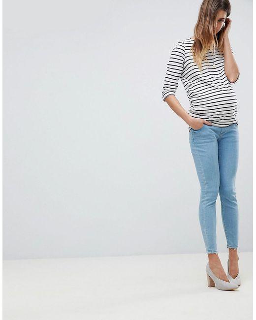 Asos Conception Maternité Ridley Haute Jeans Skinny Taille En Lavage En Pierre De Lumière Vive Avec Sous La Ceinture De Bosse - Pierre Claire Asos Maternité xGKwyGvnV7