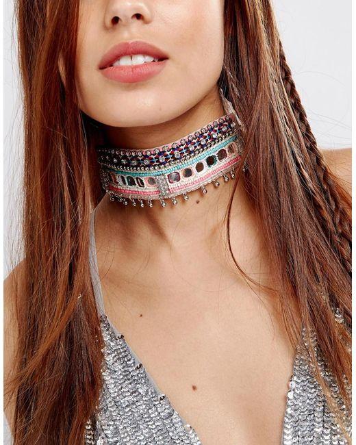 ASOS   Multicolor Statement Neon Festival Choker Necklace   Lyst