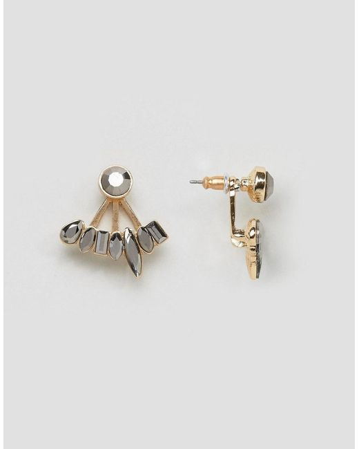 ASOS | Metallic Occasion Jewel Swing Earrings | Lyst