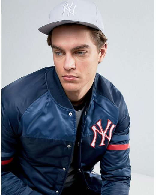 KTZ | Gray 9fifty Snapback Cap Unstructured Ny Yankees for Men | Lyst