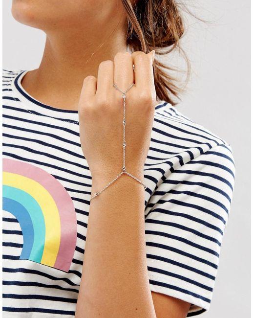 ASOS | Metallic Ball Chain Hand Harness | Lyst