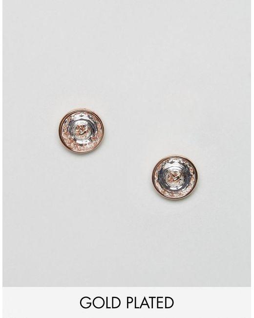 Ted Baker | Metallic Crystal Button Earrings | Lyst