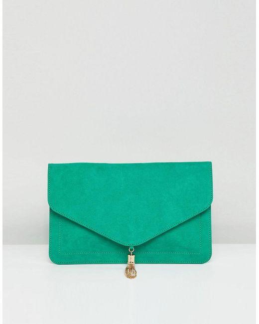 ASOS - Green Tassel Clutch Bag - Lyst