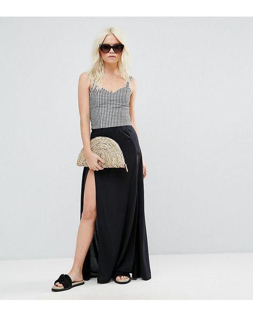 ASOS | Black Beach Split Hem Maxi Skirt | Lyst
