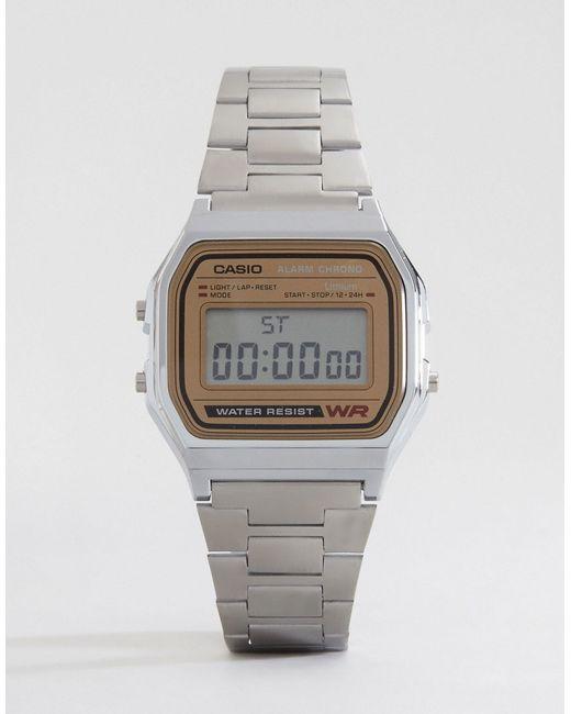 G-Shock | Metallic Classic Retro Digital Watch A158wea-9ef | Lyst