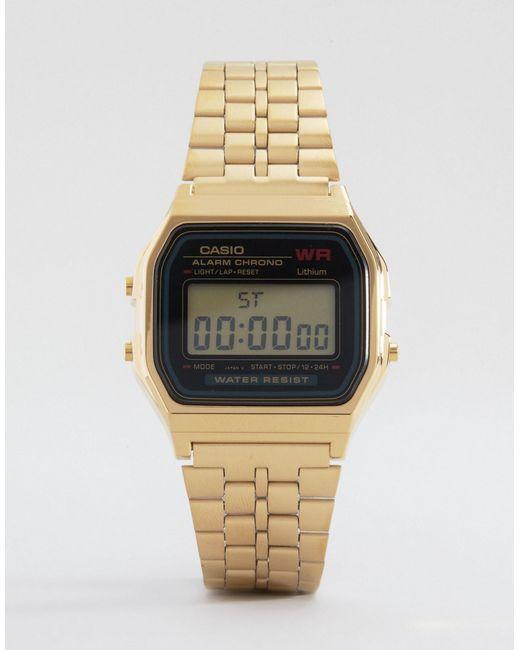 G-Shock | Metallic A159wgea-1ef Gold Digital Watch | Lyst