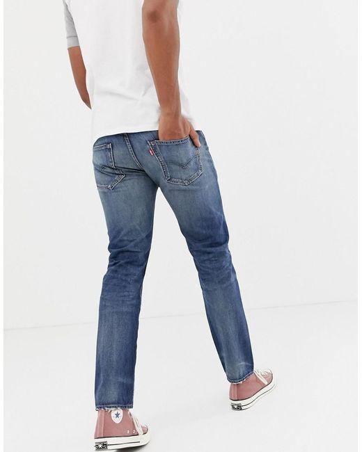 17ea16c8359 ... Levi's - Blue 502 Regular Tapered Fit Jeans In Mako Cool Warp Mid Wash  for Men