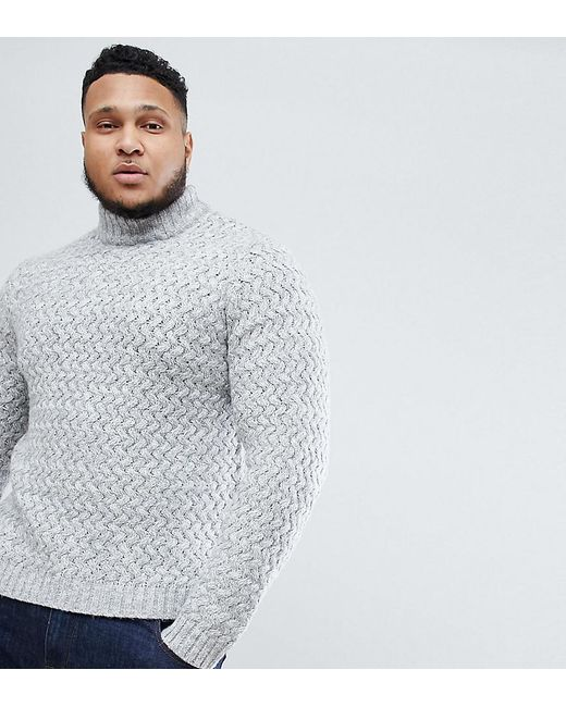 Only & Sons - Black Knitted Jumper With High Neck for Men - Lyst