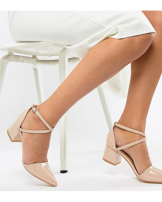 Truffle Collection - Natural Pointed Mid Heels - Lyst
