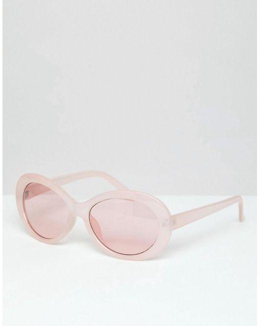 capture vente chaude en ligne pas mal Lunettes de soleil ovales avec verres roses - Rose homme