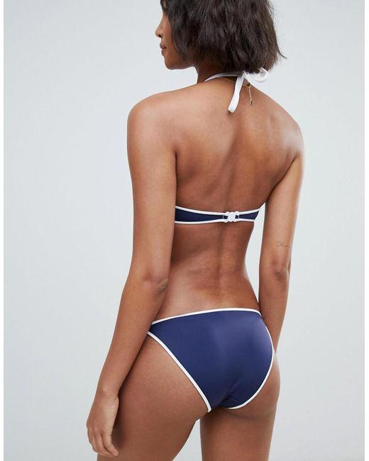 de5727f3628d DORINA Bora Bora Tie Side Bikini Bottom In Blue in Blue - Lyst