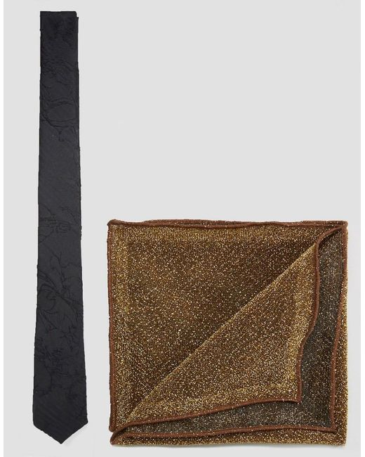 ASOS - Multicolor Tie And Sparkly Pocket Square Set for Men - Lyst