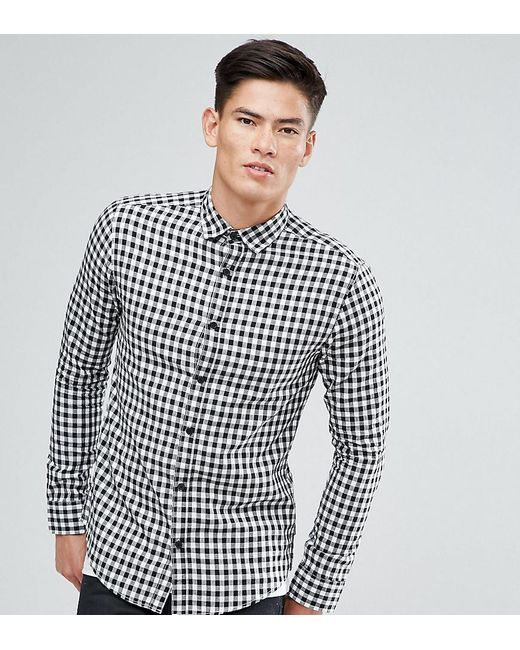 Lyst Only Sons Shirt In Slim Fit Gingham Check In