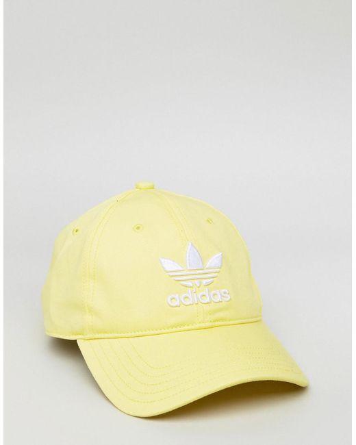 adicolor Trefoil Cap In Yellow CD6974 - Yellow adidas Originals Q8COcavv