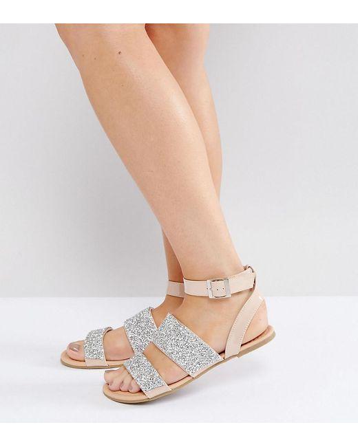 Bridal Shoes Wide Feet: Asos Fancy Feet Wide Fit Embellished Flat Sandals In