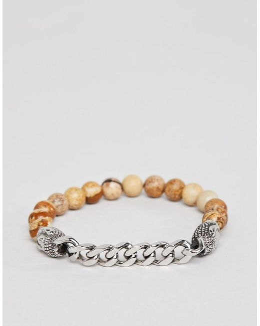 Seven London - Brown Beaded Bracelet With Buddha Charms for Men - Lyst