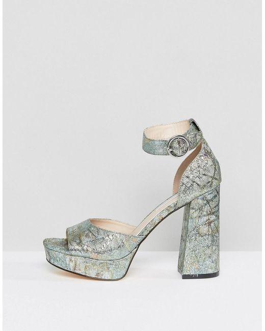 Womens Jaquard Platform Sandals Miss Selfridge TgJnCo