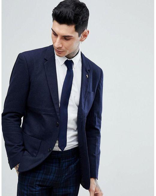 Farah - Blue Lake Plain Wool Blazer for Men - Lyst