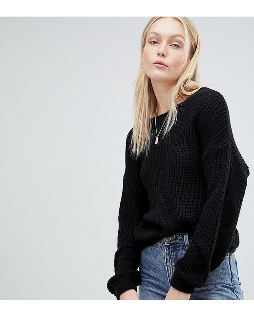 ASOS - Black Jumper With Twist Back - Lyst