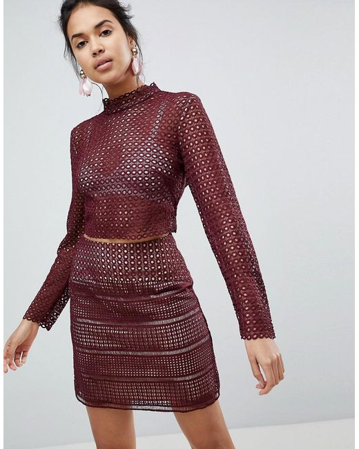 Keepsake - Brown Sweet Nothing Crochet Lace Top - Lyst