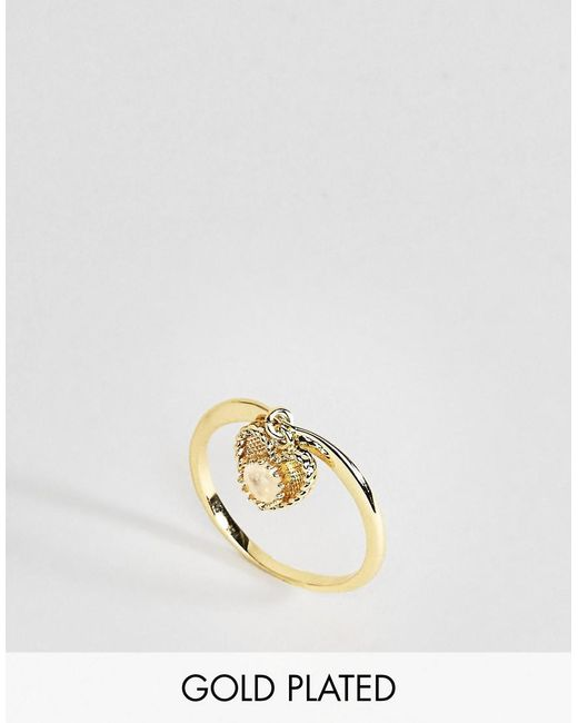 Rock N Rose | Metallic Rock N Rose June Semi Precious Moonstone Birthstone Ring | Lyst