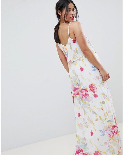 470eea821ab ... ASOS - Pink Asos Design Maternity Pleated Maxi Dress In Rose Floral  Print - Lyst