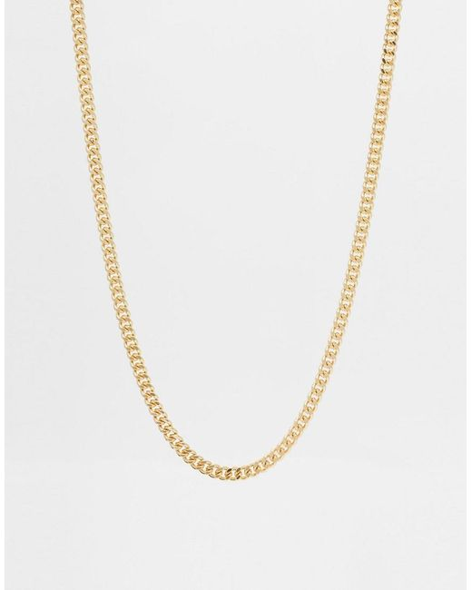ASOS - Metallic Midweight Chain In Gold Tone for Men - Lyst