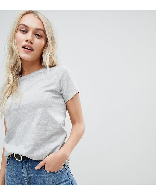 1dd8ac790 ASOS - Gray Asos Design Petite Ultimate T-shirt With Crew Neck In Grey ...
