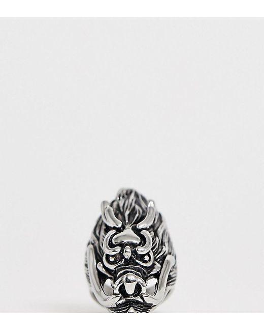 Reclaimed (vintage) - Metallic Inspired - Ring aus Edelstahl mit Oversize-Drachendetail, exklusiv bei ASOS for Men - Lyst