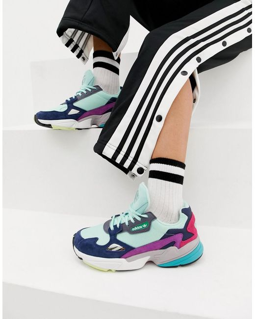445891f0 adidas Originals Falcon Sneaker In Mint Multi in Green - Lyst