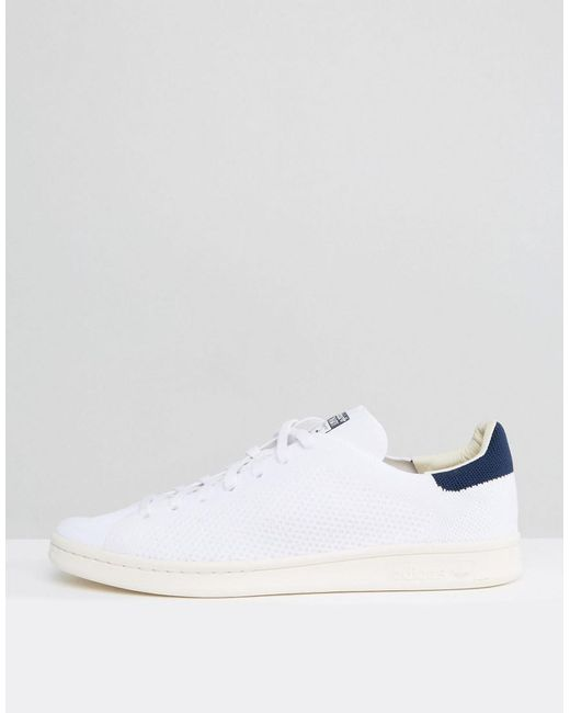 e9a8422ac8f5 ... Adidas Originals Stan Smith Og Primeknit Sneakers In White S75148 for  men