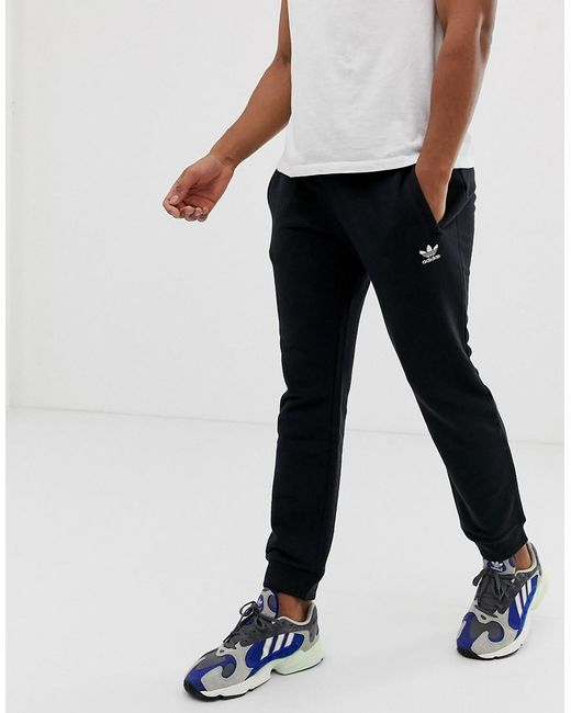 3e578c871fa adidas Originals joggers With Logo Embroidery Black in Black for Men ...