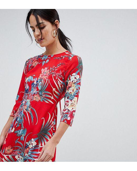 Lyst Robe Fleurs Avec Dos Ouvert Et Ourlet Volant En Exclusivit