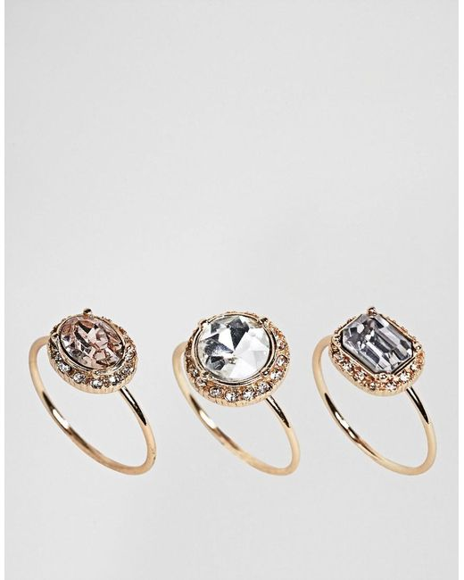ALDO - Metallic Fine Jewel Multipack Ring Set - Lyst