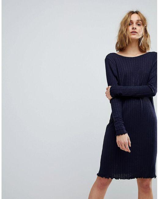 Vero Moda - Blue Jumper Dress With V Back - Lyst