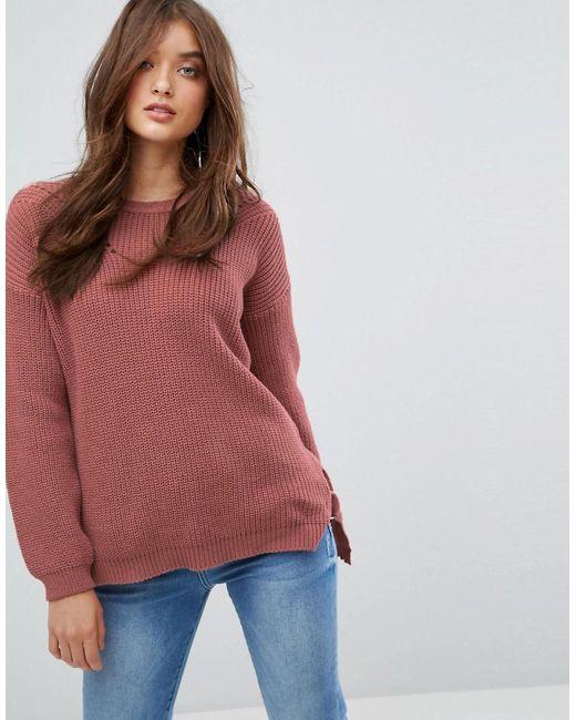 Boohoo   Orange D Ring Side Sweater   Lyst