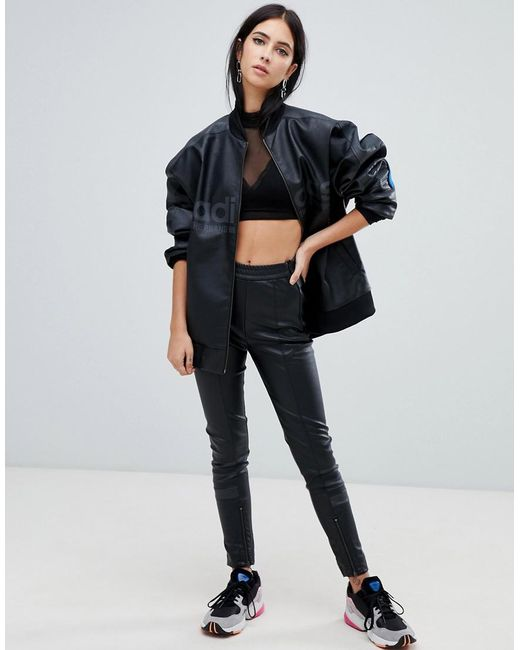f3eb38a94ee Lyst - adidas Originals Aa-42 Faux Leather Pants In Black in Black
