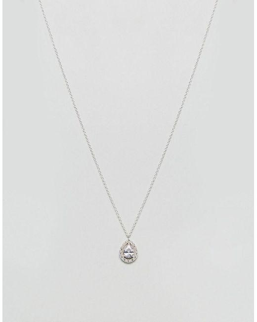 River Island   Metallic Love Luli Teardrop Necklace   Lyst
