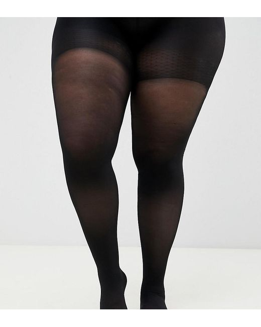 cff6eb562a3 ASOS - Black Asos Design Curve 60 Denier Tights With Bum Tum And Thigh  Support ...