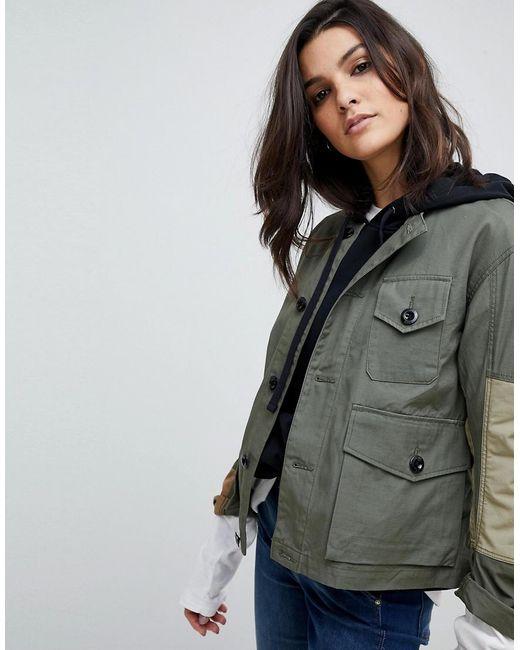 G-Star RAW Green Camoflage Combat Jacket