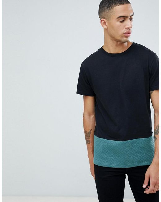 D-Struct - Black Quilted Cut And Sew T-shirt for Men - Lyst