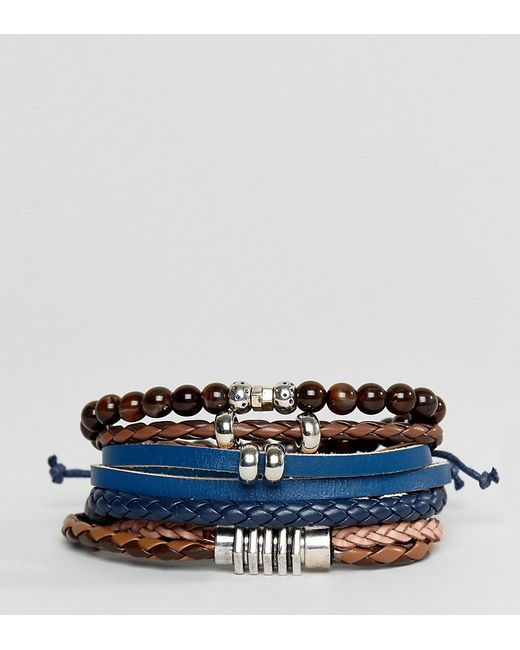 ALDO | Multicolor Black / Brown Bracelets 4 Pack | Lyst