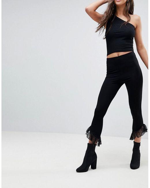 Marketable Cheap Price Leggings with Lace Ruffle Hem - Black Asos Buy Cheap Professional oj1fRzX3B7
