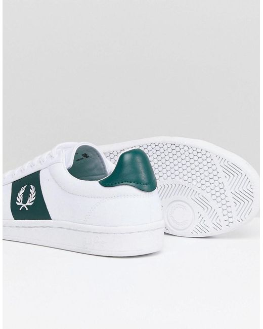 clearance very cheap Fred Perry B721 Canvas Trainers In White sale good selling free shipping cheapest price high quality for sale rlIv5