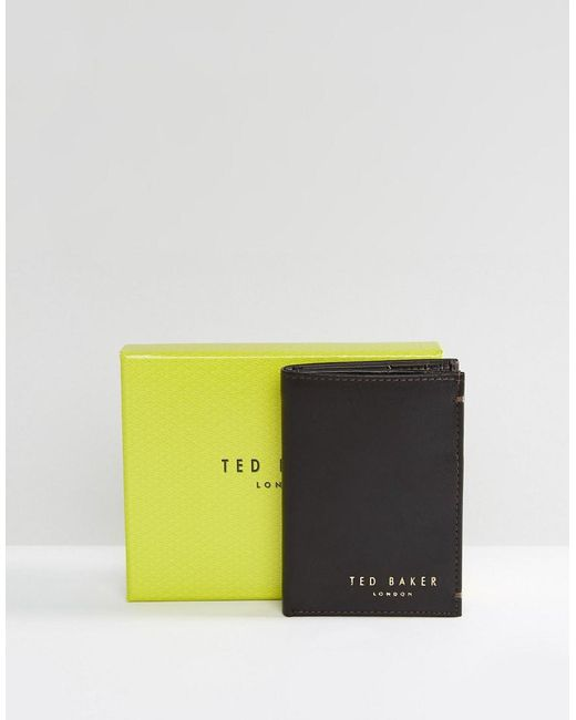 ab2978b97 Ted Baker - Brown Zacks Bifold Leather Wallet for Men - Lyst ...