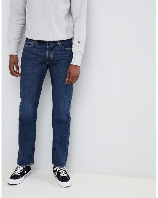 9bc31f15857 Levi's - 501 Skinny Fit Standard Rise Jeans Luther Dark Wash Blue for Men -  Lyst ...