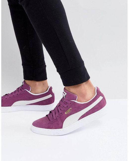 PUMA - Suede Classic Trainers In Purple 36534712 - Lyst
